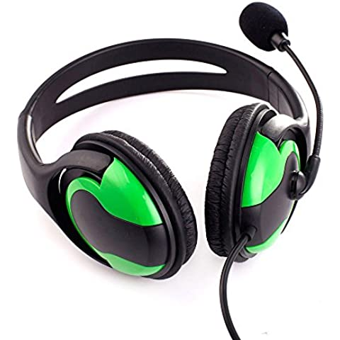 Crazo 2en1 Ajustable Auriculares Casco Headset para Playstation 3 PS3 Verde Negro