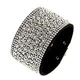 Fashiongen - Strass Manschette Armband Prudentius - Schwarz (Weiß)