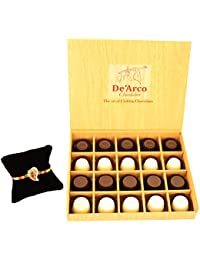 DEARCO CHOCOLATIER CHOCOLATE GIFT BOX, RAKHI CHOCOLATE For BROTHER, Luxury Rakhi Gift, PREMIUM RAKHI GIFT CHOCOLATES... - B073ZN2RTV