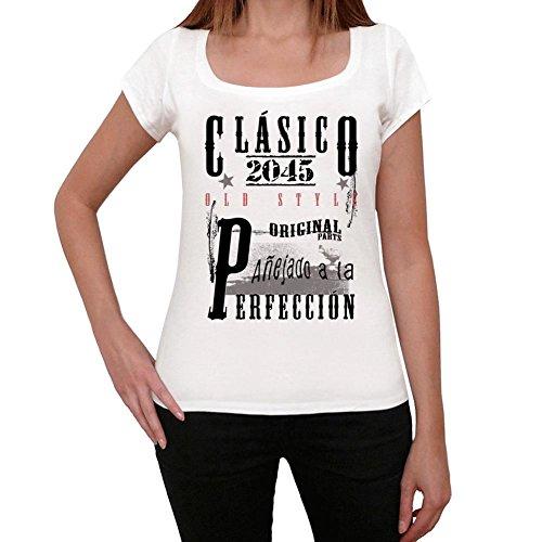 2045, t-shirt damen, vintage tshirt, geschenke tshirt Weiß