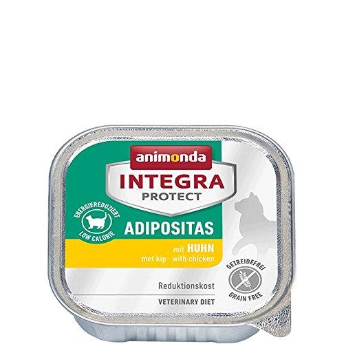 animonda Integra Protect Adipositas mit Huhn | Diät Katzenfutter | Nassfutter bei Übergewicht (16 x 100g)