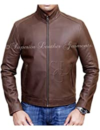 Jason Bourne Series Matt Damon High Quality Cowhide Real Leather Jacket
