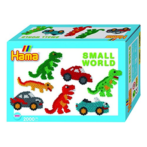 Hama Beads Small World Dinosaur and Car
