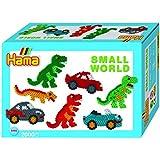 Hama - 3502 - Loisirs Créatifs - Boîte Perles à Repasser - Taille Midi - Le Monde Miniature Des Dinosaures