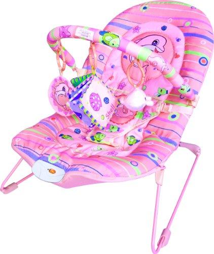 Inside Out Toys – Arnés mecedora, vibradora y musical para bebé – Rosa claro