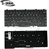 S-Union New Black US Keyboard For Dell Latitude 3340 Series Laptop Part Number: V146925AS1 90.40A07.S01
