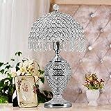 CTD Continental Nachttischlampe Schlafzimmer Wohnzimmer Lampe Silberglas Wohnideen