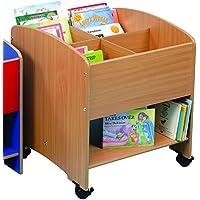 Twoey Educational Insights-basso livello 4 scomparti per bambini, con ripiano in legno di faggio