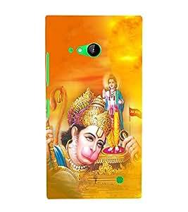 FUSON Hindu Lod Hanuman Puja 3D Hard Polycarbonate Designer Back Case Cover for Nokia Lumia 730 Dual SIM :: Nokia Lumia 730 Dual SIM RM-1040