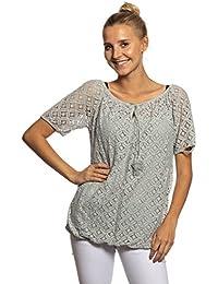 ce46b233a6a144 Abbino IG013 Langarm Shirts Tops Damen - Made in Italy - Viele Farben -  Übergang Frühling Sommer Herbst Damenshirts Damentops…
