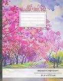 """Kariertes Notizbuch • A4-Format, 100+ Seiten, Soft Cover, Register, Mit Rand, """"Frühlingstraum"""" • Original #GoodMemos Quad Ruled Notebook • Perfekt als Matheheft, Skizzenbuch, Notizheft, Tagebuch"""