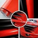 Autofolie Glanz Hochglanz Rot 152cm breit BLASENFREI mit Luftkanäle 3D Flex Folie Auto