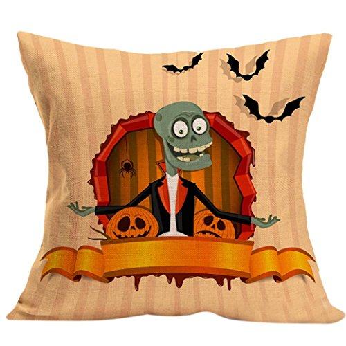 Único de Halloween !!! Funda de almohada, Longra cómodo y creativo de la decoración del hogar (P)