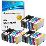 Printing Pleasure 12 XL Druckerpatronen für HP Officejet 6000 Wireless, 6000AIO, 6000SE, 6000Wide / 6500 Plus, 6500A, All-in-One, e-All-in-One, 6500AIO, 6500SE, 6500Wide / 7000, 7000AIO, 7000SE, 7000Wide / 7500A Wide Format | Ersatz für HP 920XL mit Chip