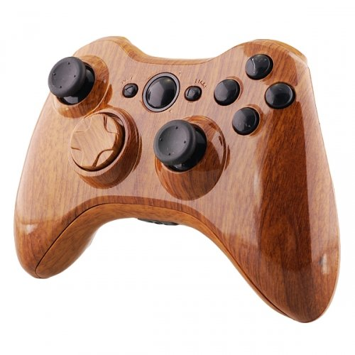 Xbox 360 wireless Controller - Holz (Holz-xbox 360-shell)