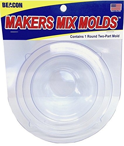 Beacon Makers Mix Stepping Stone Mold Round, Acrylic, Multicoloured, 3-Piece