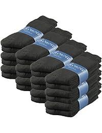 Lavazio® 6 | 12 | 18 | 24 Paar Herren Thermo Socken Freizeit Socken herrlich warm in schwarz