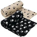 Extra Large Soft Cosy Warm Fleece Pet Dog Cat Animal Blanket Throw 140 x 100cm - Black 4