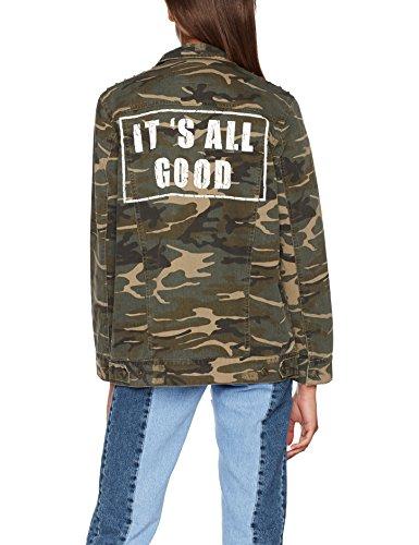 ONLY Damen Jeansjacke Onleva Camo Oversized Jacket Pnt Mehrfarbig (Beetle Beetle)
