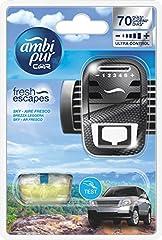 Idea Regalo - Ambipur Car Starter Kit Base Sky Brezza Leggera, Deodorante per Auto 7 ml