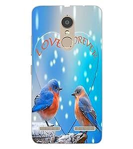 ColourCraft Love Birds Design Back Case Cover for LENOVO K6