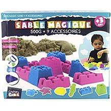 Créateur De Génie - Ec3275 - Coffret Avec 500g De Sable Magique - 6 Moules - 2  Accessoires coloris de sable aléatoire
