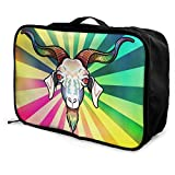 Portable Luggage Duffel Bag Rainbow Goat Travel Bags Carry-on In Trolley Handle