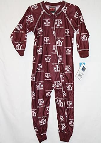 Texas A&M Aggies Toddler Full Zip Raglan Piped Coverall Sleeper