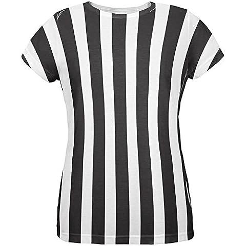 Halloween Kostüm aller Damen T Shirt Multi LG Schiedsrichter (Schiedsrichter T-shirts Kostüm)