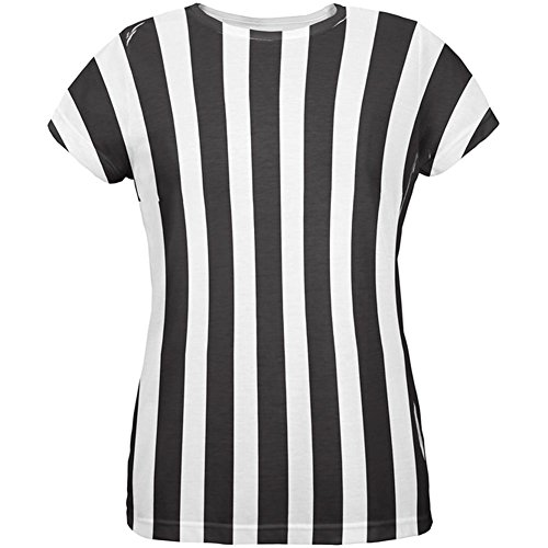 Halloween Kostüm aller Damen-T-Shirt-Schiedsrichter Multicoloured