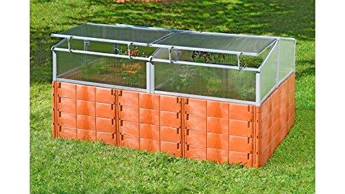 JUWEL Set: Hochbeet Profiline Größe 2, BxTxH: 190x121x92 cm, inkl. Thermo-Frühbeet