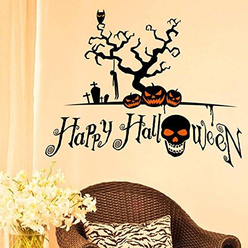 JXFY Kreative Halloween Festival Sticker Grüne Kürbislaternen Halloween Kreative Artikel 78x62cm