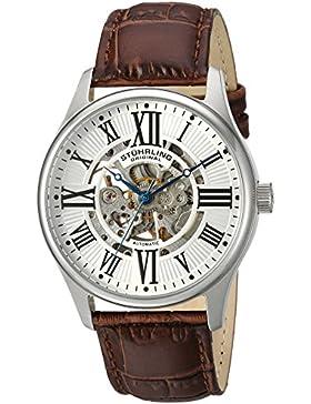 Stuhrling Original 629.01 Herren-Armbanduhr Analog Automatik Leder