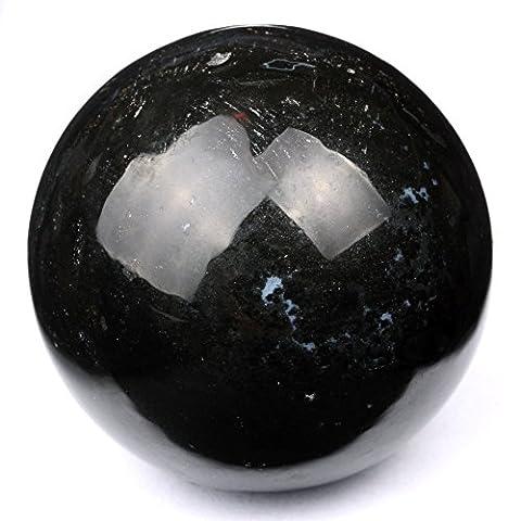 Cristaux de guérison Inde®: Obsidienne Noir naturel 40–50mm Poli Boule Sphère Cristal Minéral métaphysique guérison Feng Shui Chakra Aura équilibre Pierre Livraison