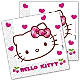 Invcas 20 Servietten Hello Kitty