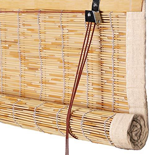 GDMING Bambus Rollo Bambusvorhang Fenster Laden Tamisant Occultant Rideau Haushalt Tür Fenster Anti-UV Schatten Staubdicht Winddicht (Color : A, Size : 100x180cm)