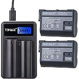 TOP-MAX® 2X EN-EL15 Batería 1950mAh para Nikon 1 V1 D810 D610 D750 D800E D810A D800 D7200 D7100 D750 D600 D7000 + Cargador USB