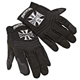 West Coast Choppers Handschuhe Riding Gloves Pay Up Sucker, Größe:M, Farbe:black
