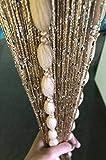 Hysenm Gorgeous string porta tende a pannello con morbido palle glitter romantico arredamento per matrimoni Doorways ripostiglio porte Champagne 100x200cm