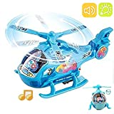 #9: Akhand Bump and Go Helicopter Toy with Lights, Music and Rotating Blades