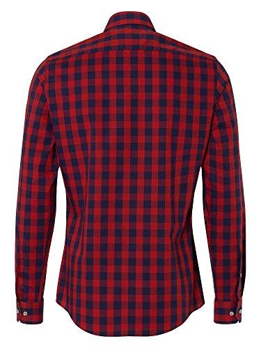 REDMOND 4 limited Uomini Camicia casual Rosso