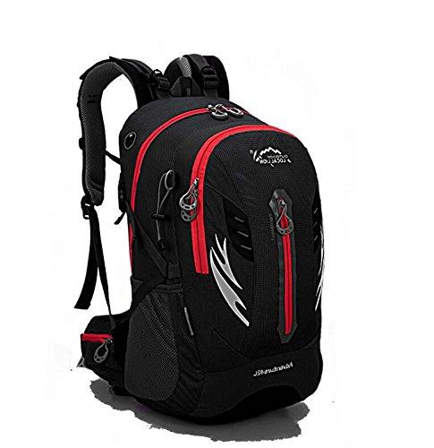 ShangYi Alla rinfusa viaggio campeggio trekking outdoor borsa uomo moda libero Sport zaino zaino 42L , pink Black
