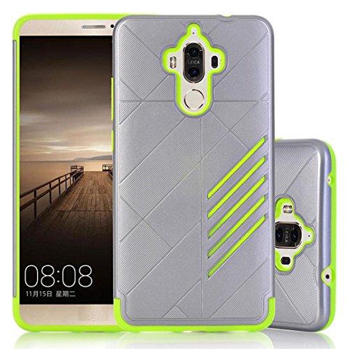 Preisvergleich Produktbild Ouneed® Für Huawei Mate 9 Hülle ,  Bling Hard Weiche Gummi Schlag Rüstung Case Back Hybride Abdeckung Case Cover for Huawei Mate 9 (Grün)