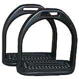 AMKA Steigbügel aus Kunststoff Compositi für Kinder 10 cm schwarz