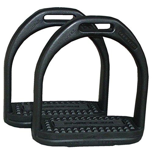 Compositi AMKA Steigbügel aus Kunststoff Kinder 10 cm schwarz