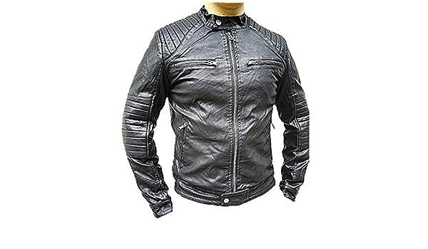 416e058eed520 Manteau Homme Veste hiver simili cuir Blouson Jacket fourrure doudoune S237   Amazon.fr  Vêtements et accessoires