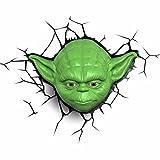 3D Light FX 50025 Star Wars Yoda 3D Deco Light, Plastic, Green