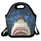 Best Lunches On The Planets - Pp7g Universe White Shark Lunch Tote Insulated Reusable Review