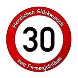 Firmenschild als Verkehrsschild zum Firmenjubiläum - Geschenk für Firmen (20 cm)