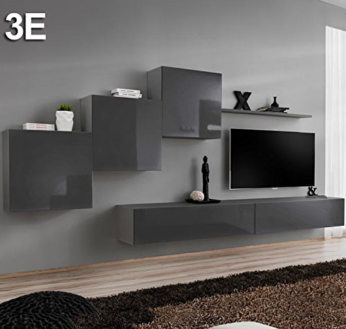 Muebles Bonitos – Conjunto muebles Berit Gris Modelo 3 E